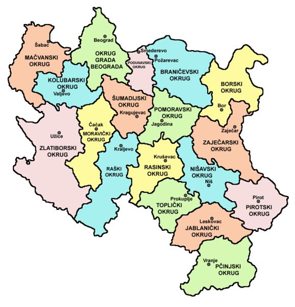 karta centralne srbije Karta Srbije   Interaktivna satelitska mapa Srbije karta centralne srbije